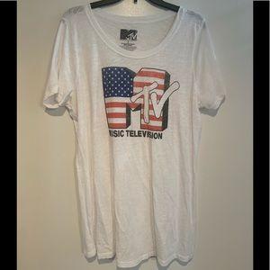 American flag MTV shirt